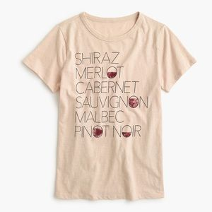 NWT J. Crew Red Wine Graphic Tee